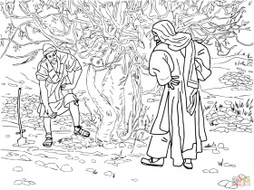 Barren Fig Tree Parable coloring page | Free Printable Coloring Pages
