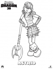 how to train your dragon astrid coloring pages