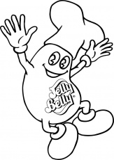 Happy Jelly Bean Coloring Page