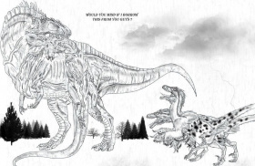 Utahraptor - Coloring Pages for Kids and for Adults