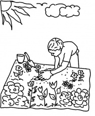 Gardening Coloring Pages - Best Coloring Pages For Kids