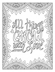 Quote Coloring Pages for Adults and Teens - Best Coloring Pages ...