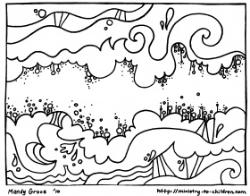 "Creation Coloring Pages ""God Made the Sky"" – Welcome To Grace Church  Halewood"