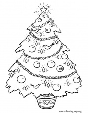 Spectacular Christmas Tree Ornament Coloring Pages - Christmas Moment