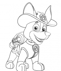 PAW Patrol New Pup Tracker Coloring Page