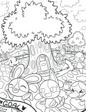 animal crossing coloring pages for kids and for adults