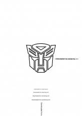 Transformer Logo And Clip Art Coloring Pages - Cartoon - Download ...