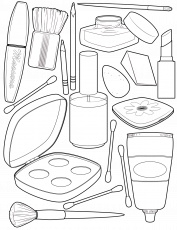 makeup-coloring-page | Coloring sheets, Coloring pages ...