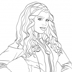 Coloring Pages : Full_descendantsloring Pages Dwcp Evies ...