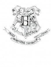 Hogwarts Crest Coloring Page Related Keywords & Suggestions ...