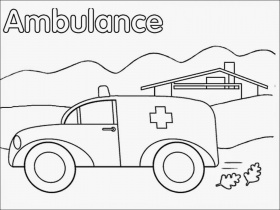 ambulance coloring page - coloring home - Ambulance Coloring Pages Print