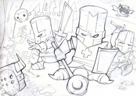 Castle Crashers Coloring Page  Coloring Home
