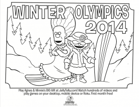 Free Winter Olympics Activities: Coloring Page & Bingo