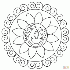 Diwali Colouring Pages For Kids Acticity Diwali 2016 Coloring Home