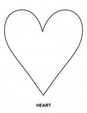 coloring page of a heart