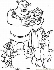 Coloring Pages Coloring Pages For Shrek Lrg (Cartoons > Monsters