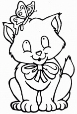 Cat color page | Printable Coloring Pages