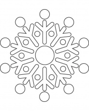 Snowflake template 4 - Free Printable Coloring Pages