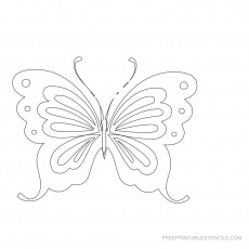 butterfly template to print for free