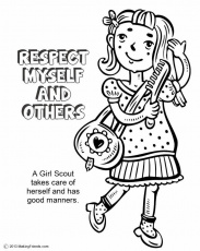Girl Scout Law Coloring Book #603 | Pics to Color