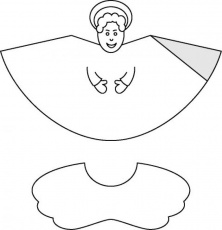 Christmas cone paper toys - Angel