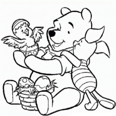 Winnie The Pooh Easter Egg Coloring Pages - Disney Coloring Pages