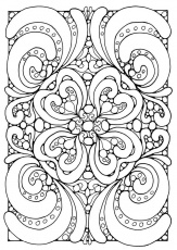 Complex Geometric Coloring Pages | Coloring Pages - Coloring Pages