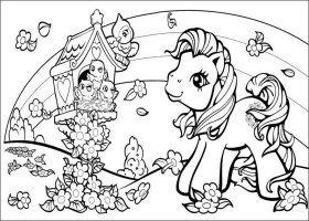My Little Pony And Birds Coloring Pages - Disney Coloring Pages