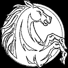 Horse Head Rearing Up Coloring Page | Purple Kitty