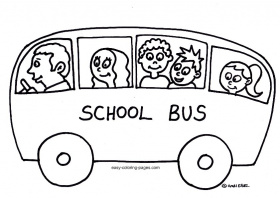 coloring pages of a school bus