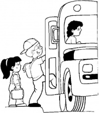 Goes to School with bus Coloring pages - Cars Coloring Pages