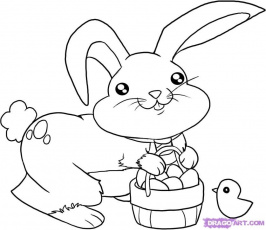 How to Draw the Easter Bunny, Step by Step, Easter, Seasonal, FREE