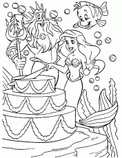 Little Mermaid Coloring Page & Coloring Book