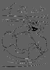 Monster Cookie Relax In The Swimming Pool Coloring Pages - Cookie