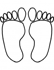 footprints coloring pages