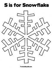 Snowflake Coloring Printable C Webspinstress