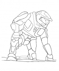 halo reach coloring pages