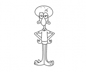 squidward tentacles coloring pages