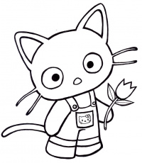 chococat coloring pages