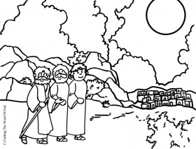 Road To Emmaus- Coloring Page « Crafting The Word Of God