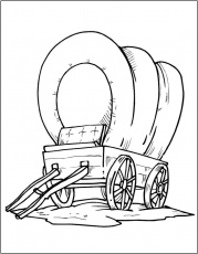 Covered Wagon Coloring Page | Coloring Pages