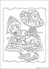 STRAWBERRY SHORTCAKE coloring pages - Strawberry Shortcake and