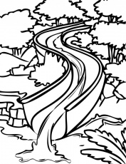 water slide coloring pages