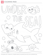 TBT Coloring Page: Under The Sea | blog.zutano.com
