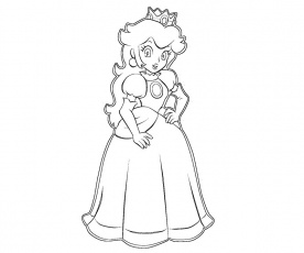 1 Princess Peach Coloring Page