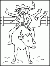 Cowboy Coloring Pages Free 38 | Free Printable Coloring Pages