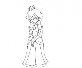 25 Princess Peach Coloring Page