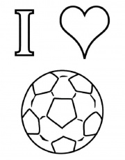 I Love Soccer Coloring Pages for kids | Coloring Pages