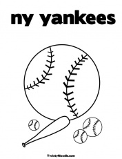 yankees coloring pages