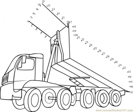 Connect the Dots Dump Truck (Transporation > Truck) - dot to dots